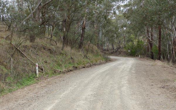 A road in Dark Corner NSW